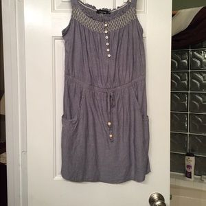 Summer chambry mini dress